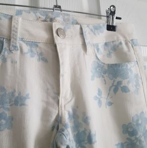 American Eagle Blue Flowers Stretch Jeggings